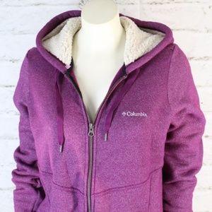 Columbia Tops - Columbia Sportswear   Purple Heather Zip-Up Hoodie